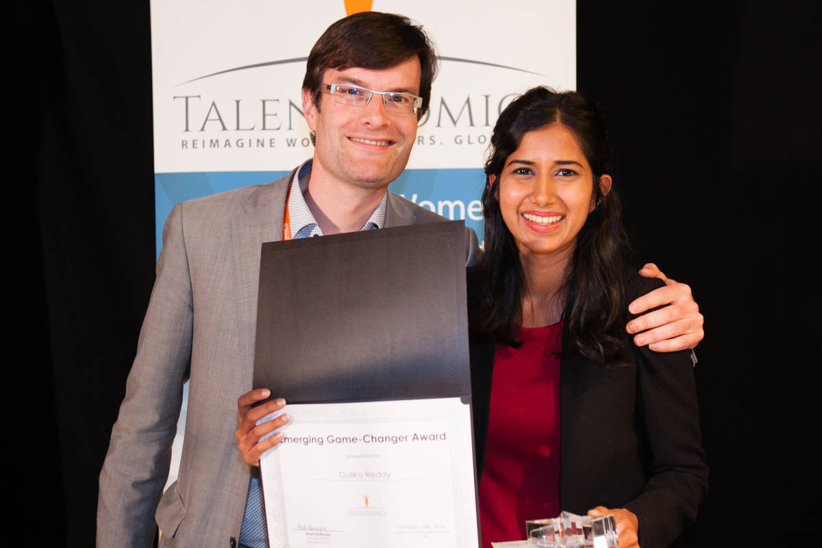 Gulika Reddy — awarded the prize for Emerging Leader